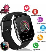 """Upgrade 1.55"""" Smart Watch Fitness Tracker with Heart Rate Blood Pressure... - $44.69"""