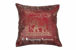 Indian Decorative Pillow Case Silk Cover Vintag... - $17.70