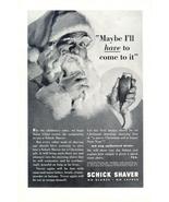 1937 Schick Shaver Christmas Santa Claus print ad - $10.00