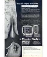 1949 Mosler Safe burning match vintage print ad - $10.00