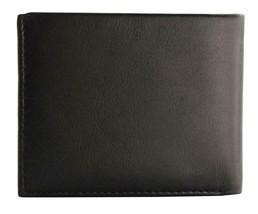 Guess Men's Premium Leather Double Billfold Credit Card Wallet Black 31GU13X030 image 2
