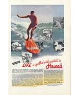 1938 Hawaii Travel Vacation Beach Surfing print ad - $10.00