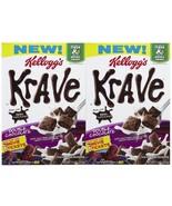 Kellogg's Krave Cereal Double Chocolate Fiber real chocolate 11 oz - 2 B... - $23.75