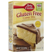 Betty Crocker, Gluten Free, Yellow Cake Mix, 15oz Box (Pack of 4) - $32.42