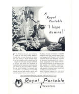 1930 Royal Portable Typewriters Chirstmas tree print ad - $10.00