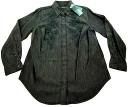 Neuf Ralph Lauren Polo Femme Jean Chemise 202684538001 Noir 1x XL - $50.36