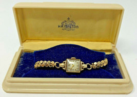 Vintage Women's Ladies HAMILTON 10K GF GOLD FILLED watch original Box (1... - $44.60