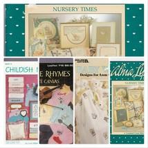 Cross Stitch Patterns Baby 4 Booklets Nursery Maternity Child Animals CS... - $14.87