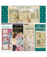 Cross Stitch Patterns Baby 4 Booklets Nursery Maternity Child Animals CS Lot 02 - $14.87