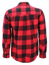 Men's Premium Cotton Button Up Long Sleeve Plaid Comfortable Flannel Shirt image 8