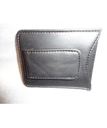 MONEY CLIP CARD HOLDER BLACK LEATHER - $4.90