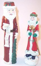 Lot of 2 Santa Claus Christmas Figurines Collectibles, 1 Candle Holder 1... - $11.99