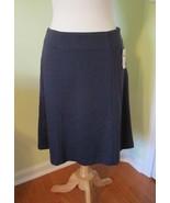 Coldwater Creek Women's Chevron A Line Blue/ Gray Ponte Skirt Size 6 NWT... - $19.77