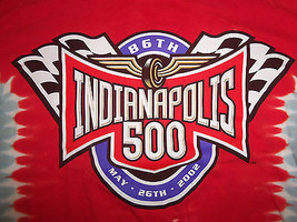 NASCAR Indianapolis 500 Racing 2002 Red Graphic Print T Shirt - XL - $15.45