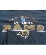 NFL Lee Sport St. Louis Rams Logo Navy Graphic Print T-Shirt - M - $17.17