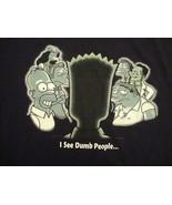 vintage 2001 the Simpsons bart homer simpson I see  dumb people T Shirt  L - $17.17