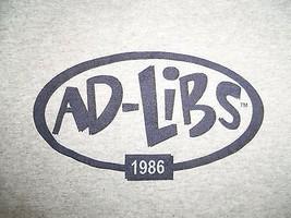 Ad-Libs 1986  Improv Comedy Dallas TX Gray 90/10 Ringer Graphic Print T ... - $17.17