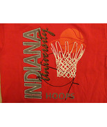 INDIANA UNIVERSITY RED BASKETBALL HOOPS NCAA ADULT XLT T SHIRT FREE US S... - $18.65