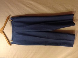Alfred Dunner Womens Blue Elastic Waist Pants, Size 14 image 1