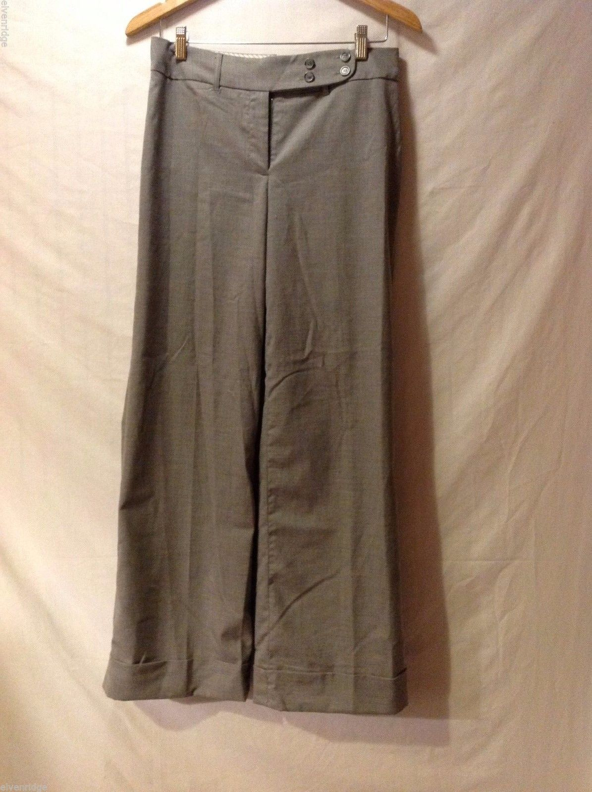 Dalia Collection Womens Gray Dress Pants, Size 4