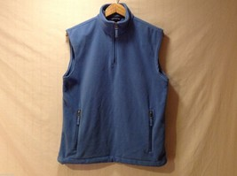 Land's End Mens or Womens Blue Fleece Vest, Size Small