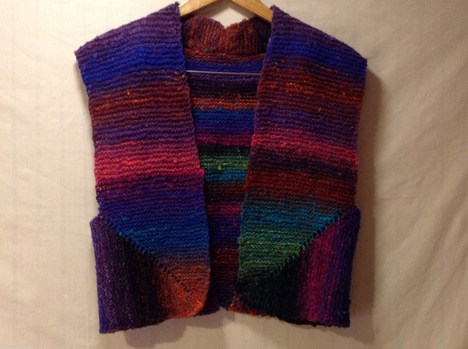 Hand Knitted Womens/girls Multicolored Vest, No Size