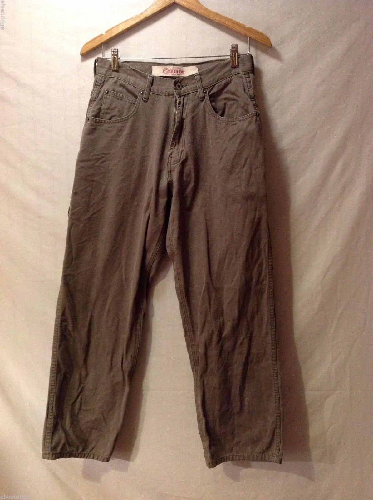 GAP Blue Jeans Womens Army Green Carpenter Pants, Size W29X30L