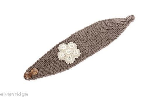 Pearl Floral Headwrap - Brown