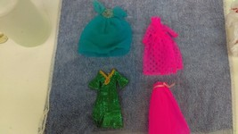 3-Topper 1970 Dawn Doll Outfits Dream Sweet Princess- Green Slink- Party... - $18.59