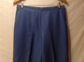 Alfred Dunner Womens Blue Elastic Waist Pants, Size 14 image 3