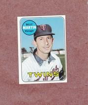 1969 Topps # 547 Billy Martin Minnesota Twins Nice Card - $5.99