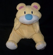 "15"" 1998 FISHER PRICE RUMBLES YELLOW TEDDY BEAR STUFFED ANIMAL PLUSH TOY... - $55.17"