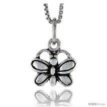 Sterling Silver Butterfly Pendant, 3/8 in  - $35.44