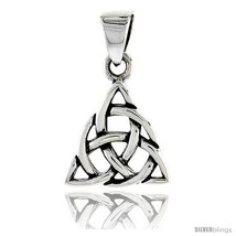 Sterling Silver Celtic Knot Trinity Pendant, 1/2  - $18.18