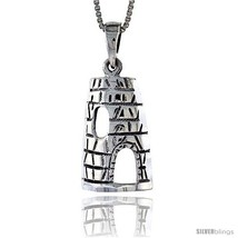 Sterling Silver Wigwam Pendant, 7/8 in  - $52.08