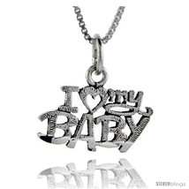 Sterling Silver I Love My Baby Talking Pendant, 1 in  - $43.79