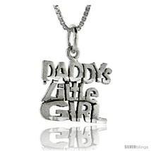 Sterling Silver Daddy's Little Girl Talking Pendant, 1 in  - $43.79