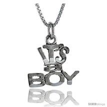 Sterling Silver It's A Boy Talking Pendant, 1 in  - $43.79
