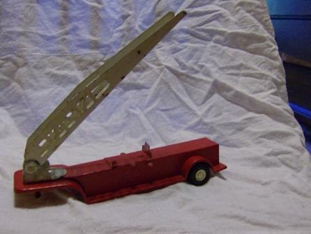 Older Tonka Fire Truck Back w/ladder Trailer