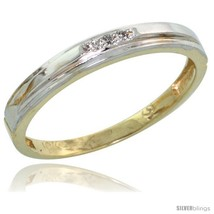Size 6 - 10k Yellow Gold Ladies' Diamond Wedding Band, 1/8 in wide -Style  - $159.78