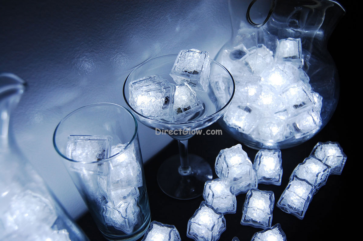 Set of 144 Litecubes Brand 3 Mode White Light up LED Ice Cubes
