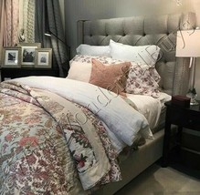 Pottery Barn Harlowe Quilt Set Queen 2 Euro Shams Floral Patchwork Palampore  - $368.00