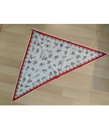 Equestrian Themed Horses Dogs Hunting Cotton Triangle Scarf - $32.66