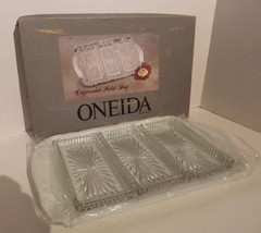 """Vintage"" ONEIDA Chippendale SilverPlate Relish Dish Glass Liner NIB - $19.30"