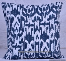 Ikat Paisley Kantha Work Handmade Cushion Cover... - $5.89