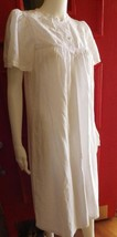 Wild Mint Nightgown White Fine Luxury Cotton Embroidered Size Small $103 - $36.77