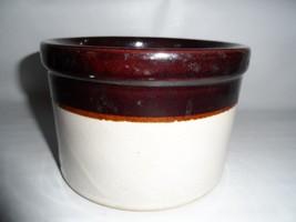 "Vintage Crock Robinson Ransbottom RRP Rosevile USA 4.5"" H Brown Tan - $27.09"