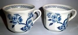 (2) J & G Meakin DYNASTY Blue Tea Cups Excellent - $21.29