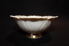 Lenox Sculptured Leaf Small Bowl Leaves Gold Pedestal - $21.29