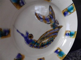JOHNSTON & GENTITHES Seagrove Pottery Hand Painted Shrimp Plate Signed - $40.64
